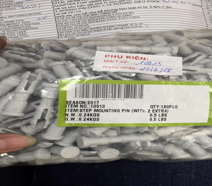 Phụ kiện INTEX - Chốt nhựa 2 chân 10913