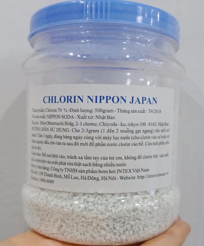 Hộp Clorin Nhật loại 500 gram dùng trong bể bơi CL500