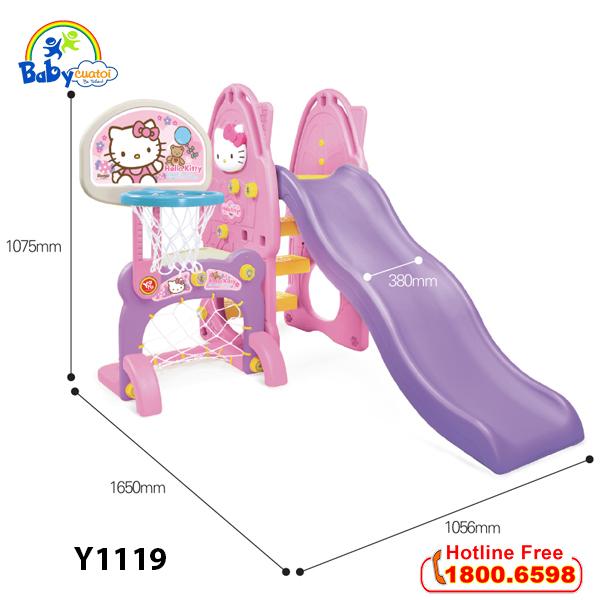 Cầu trượt Hàn Quốc cho bé Hello Kitty 4 trong 1 Y1119_2