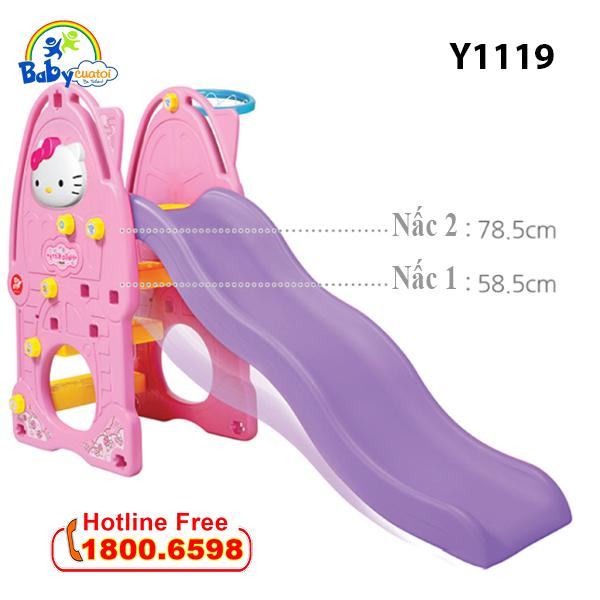 Cầu trượt Hàn Quốc cho bé Hello Kitty 4 trong 1 Y1119_4