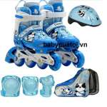 Bộ Giày patin, mũ, túi, bảo hiểm tay chân cougar MZS757