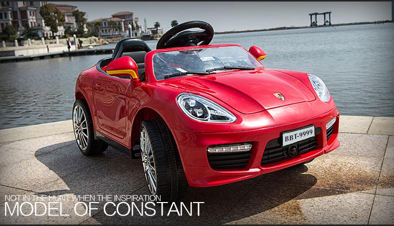 Ô tô điện trẻ em Porsche đỏ mẫu HOT BBT-9999-D