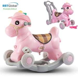 Xe ngựa chòi chòi chân cho bé kết hợp bập bênh RK-531