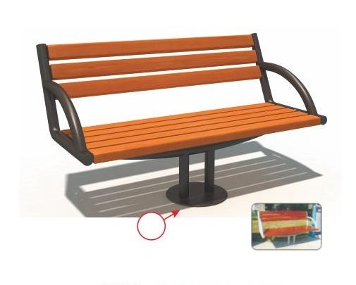 Ghế công viên nhập khẩu (ghế gỗ chân gang đúc 1.5m) BH14902