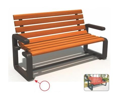 Ghế công viên nhập khẩu (ghế gỗ chân gang đúc 1.5m) BH14905