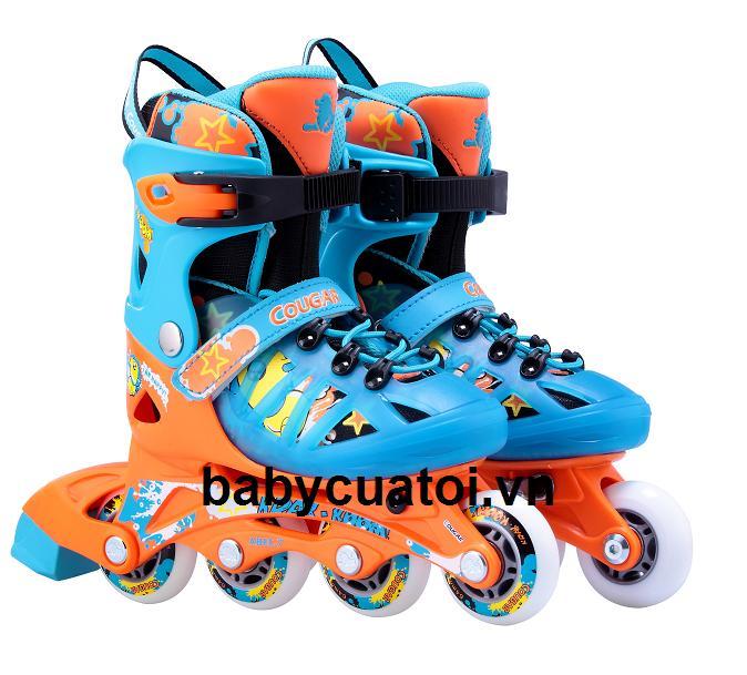 giay truot patin cougar  867 xanh cam