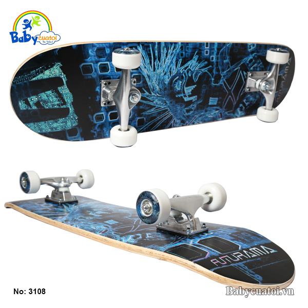 van truot skateboard cho be cao cap mau xanh duong 3108-X-1