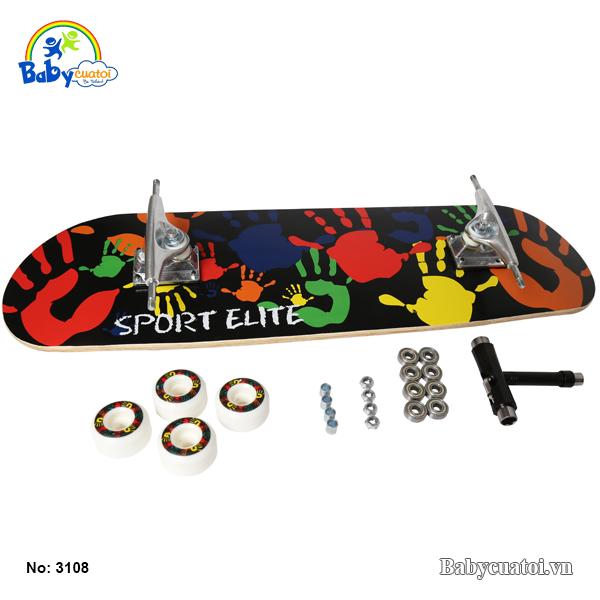 van truot skateboard cho be cao cap sac mau 3108-sm-3