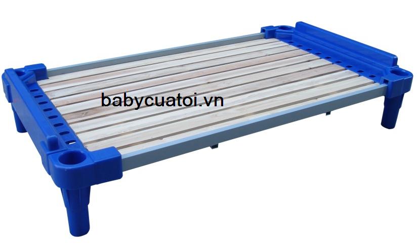 Giường nhựa sàn gỗ nhập khẩu cao cấp KXC003