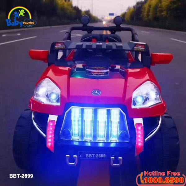 Xe ô tô điện trẻ em địa hình 4 động cơ BBT-2699 | Màu đỏ