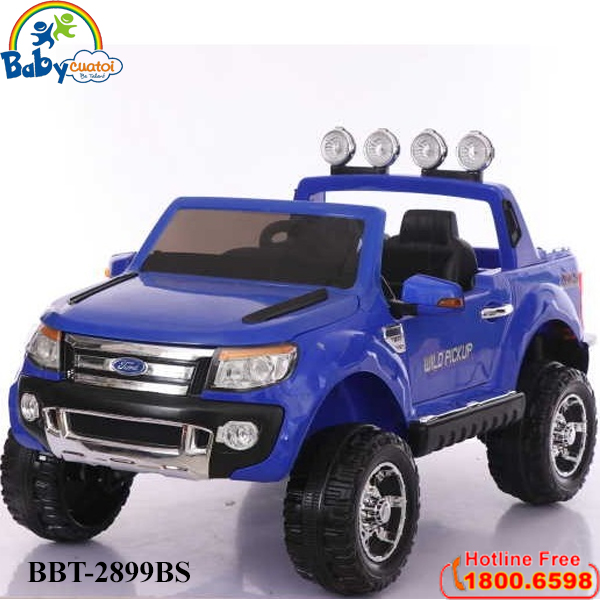 Ô tô điện trẻ em dáng bán tải Ford sơn xanh BBT-2899BS-X