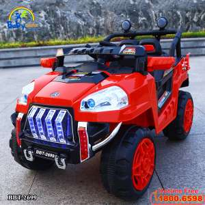 Ô tô điện trẻ em địa hình 4 động cơ đỏ BBT-2699D