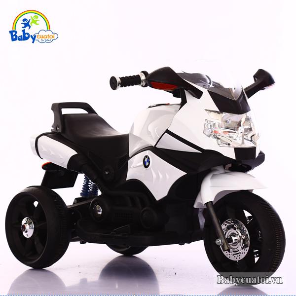 Xe máy điện trẻ em BMW 2 động cơ màu xanh BBT-5188X