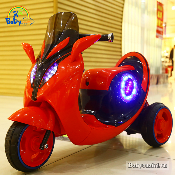 Xe máy điện trẻ em cao cấp xanh lá BBT-808XL
