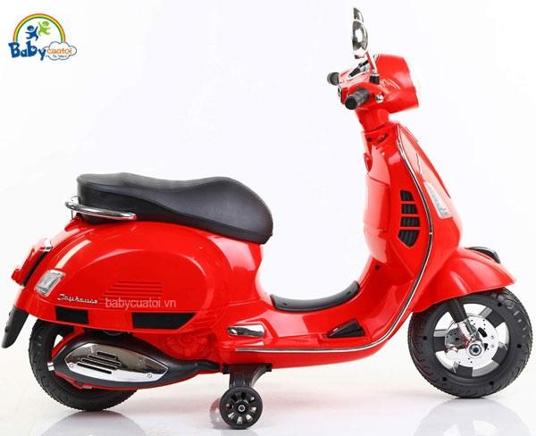 Xe máy điện trẻ em BBT GLobal Vespa đỏ BBT-6116D