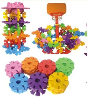 Bộ xếp hình hoa khổng lồ cho mẫu giáo ZK068-2