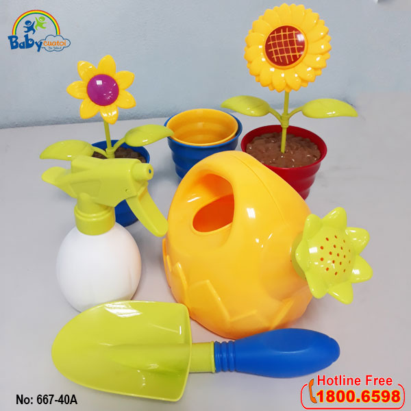 Bộ đồ chơi xúc cát trồng cây 667-40a