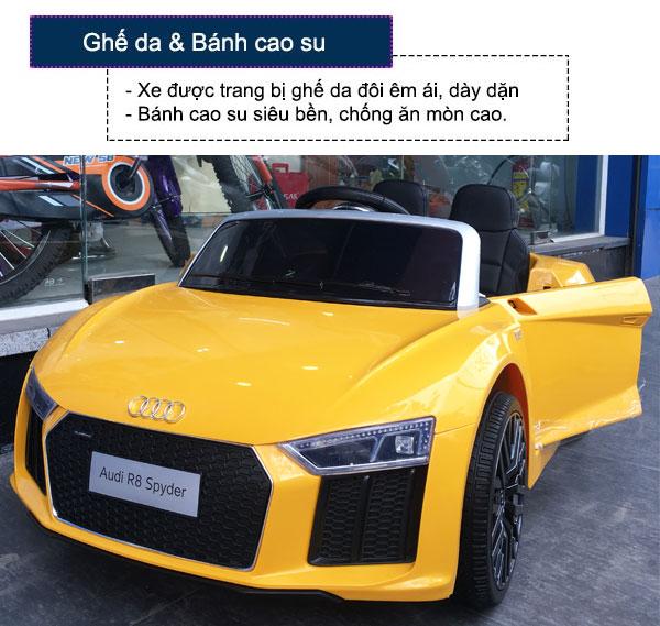 Ô tô điện trẻ em bản quyền AUDI R8 cao cấp màu vàng Audi R8-V