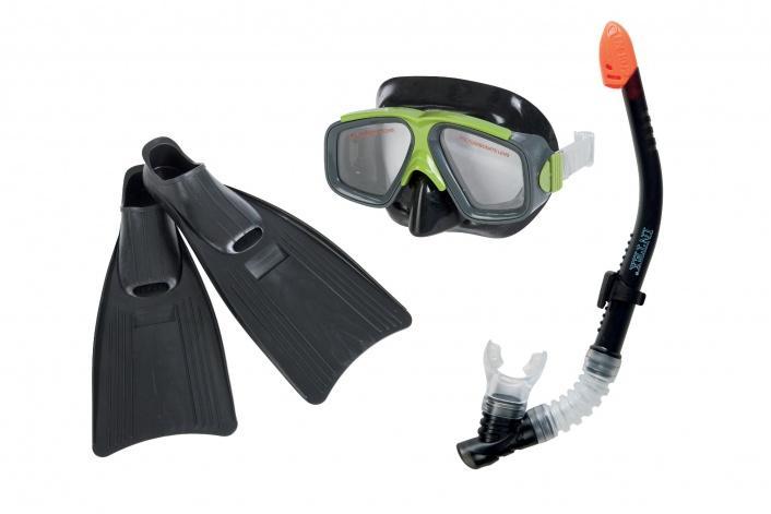 Bộ kính bơi, chân vịt, ống thở người lớn chân to INTEX 55959