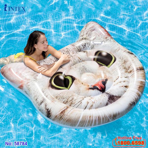 Phao bơi mặt mèo khổng lồ INTEX 58784