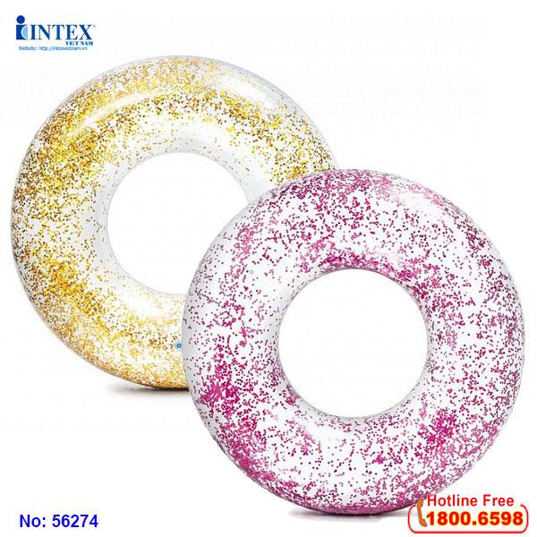 Phao tròn kim tuyến 1m19 INTEX 56274