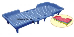 Giường nhựa mẫu giáo nhập khẩu cao cấp 14233-1