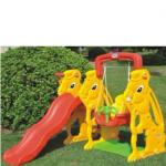 Cầu trượt cho bé có xích đu hình con thỏ KT003
