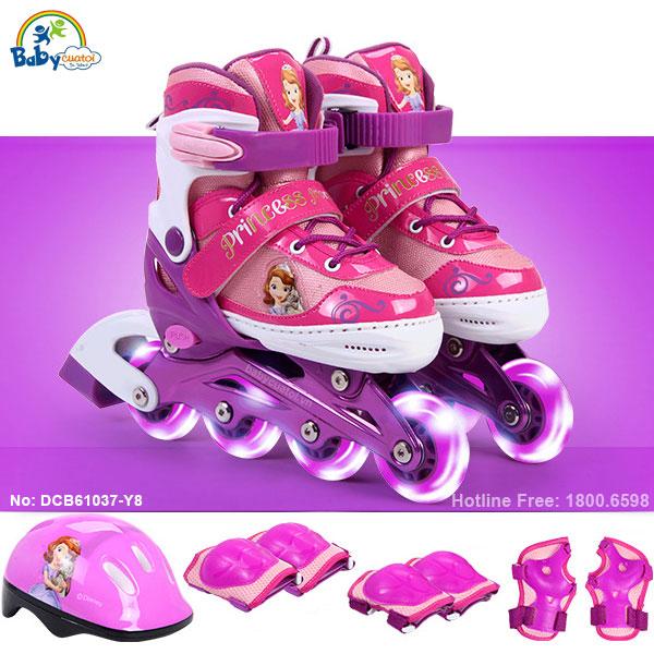 Bộ giày trượt patin gồm mũ và bảo vệ công chúa DCB61037-Y8