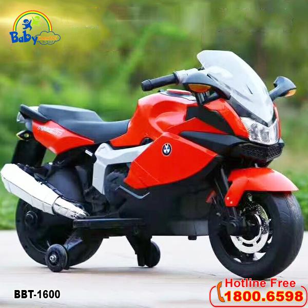 Xe máy điện trẻ em phân khối lớn màu đỏ BBT-1600D