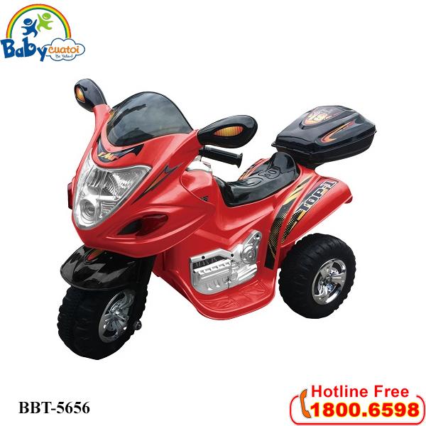 Xe máy điện trẻ em phân khối lớn màu đỏ BBT-5656D