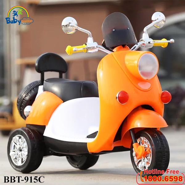 Xe máy điện trẻ em xe ga mẫu mới màu cam BBT-915C