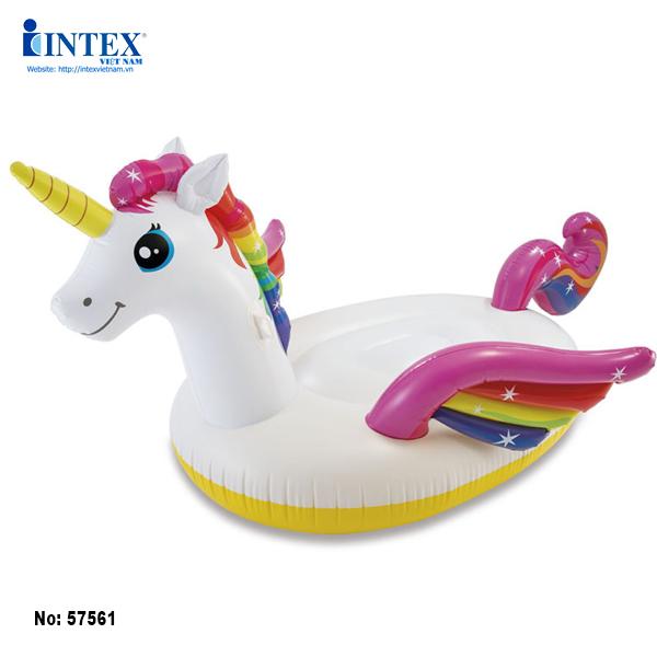 Phao bơi ngựa thần sắc màu thiếu niên intex 57561