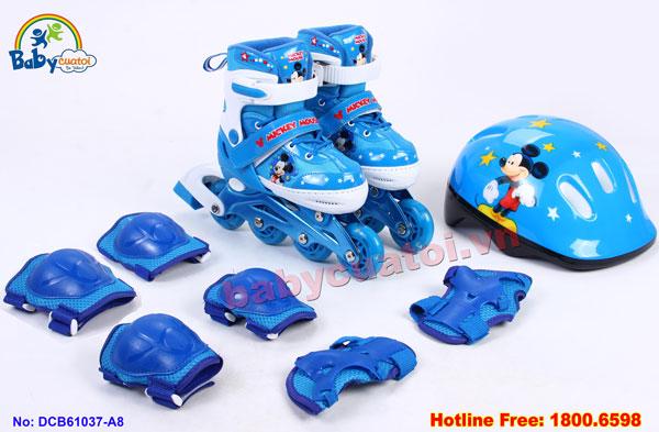 Bộ giày trượt patin gồm mũ và bảo vệ chuột Mickey DCB61037-A8