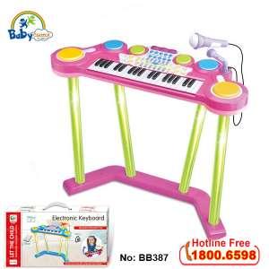 Bộ đàn Organ và trống điện tử đứng cho bé BB387