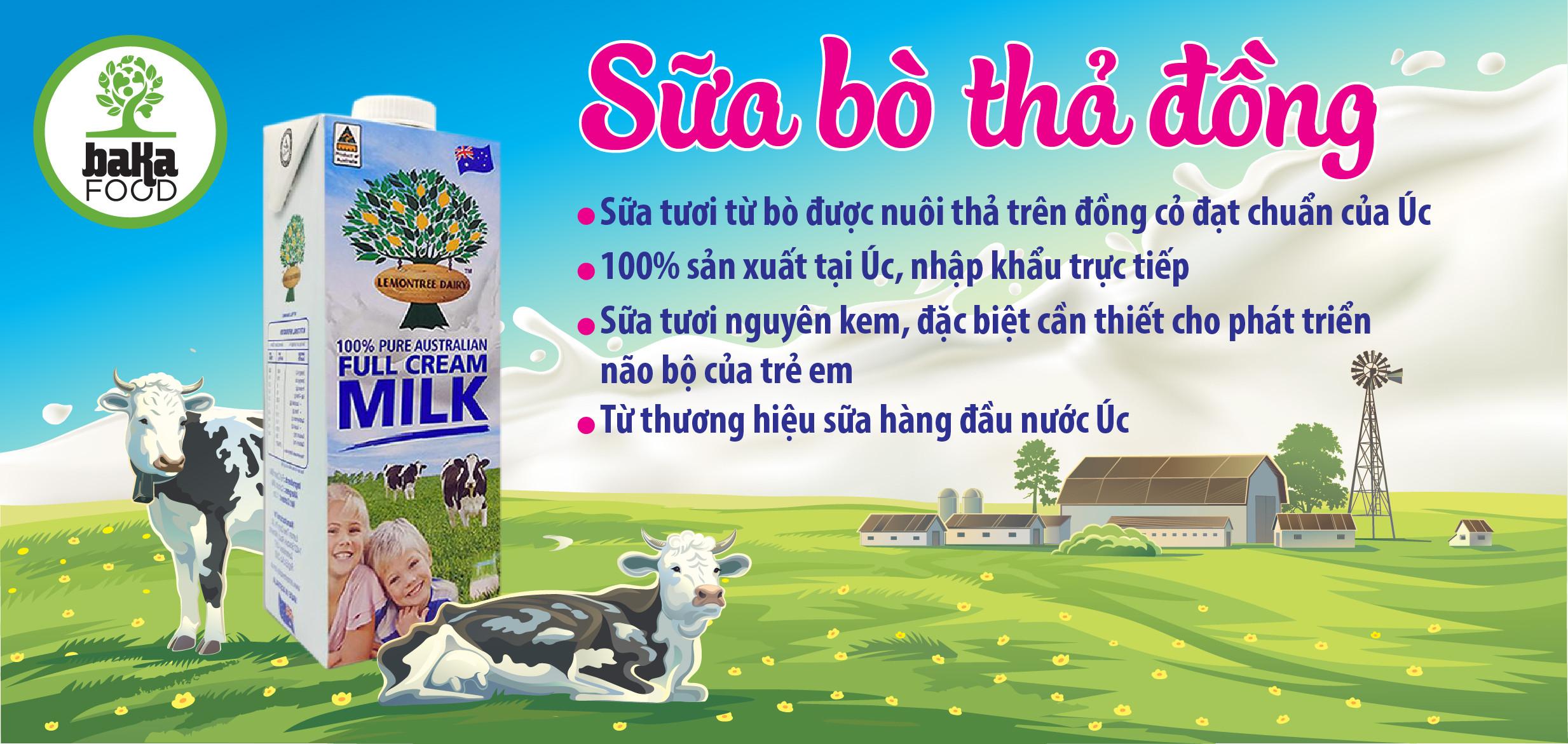 Sữa bò thả đồng