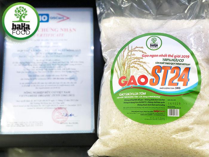 gạo hữu cơ st24