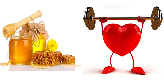 Mật ong giúp tằng cường sức khỏe tim mạnch