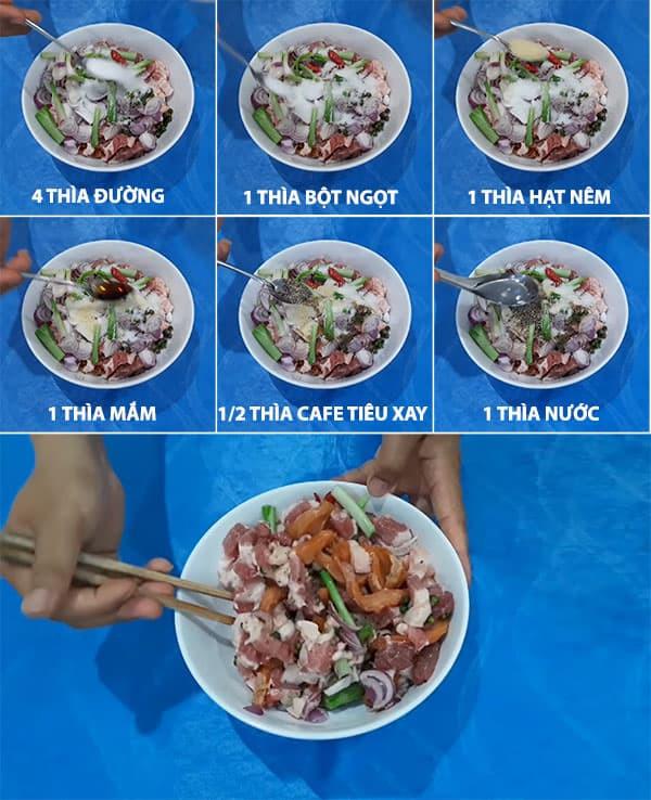 mắm cá lóc chưng thịt