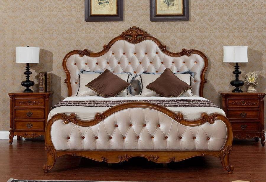 giường ngủ gỗ gõ đỏ