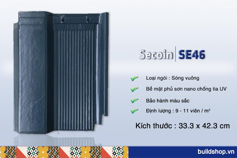 Build Shop   Ngói màu sóng vuông Secoin SE46