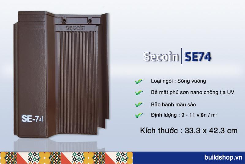 Build Shop | Ngói màu sóng vuông Secoin SE74
