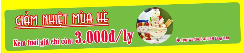 Kem tươi giá 3k tại Hà Nội