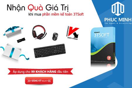 KM – Nhận ngay quà tặng khi mua phần mềm kế toán 3TSoft