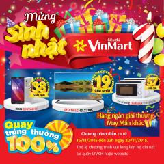VINMART khuyến mại tưng bừng mừng sinh nhật 1 tuổi