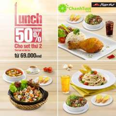 [HCM]Pizza Hut Giảm 50% Cho Set Thứ 2 trong tháng 10