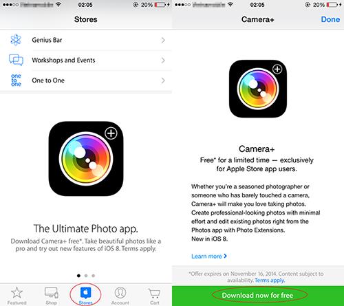 Tải về Camera+ trên App Store miễn phí