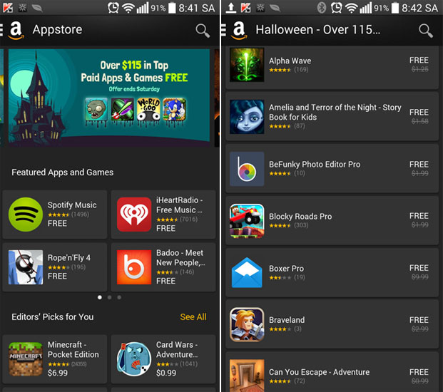 Amazon Apps miễn phí 38 apps chất lượng.