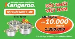 """180 """"Bộ 3 Nồi Inox 5 Lớp"""" Giá 10k Tại MediaMart Bắc Ninh"""
