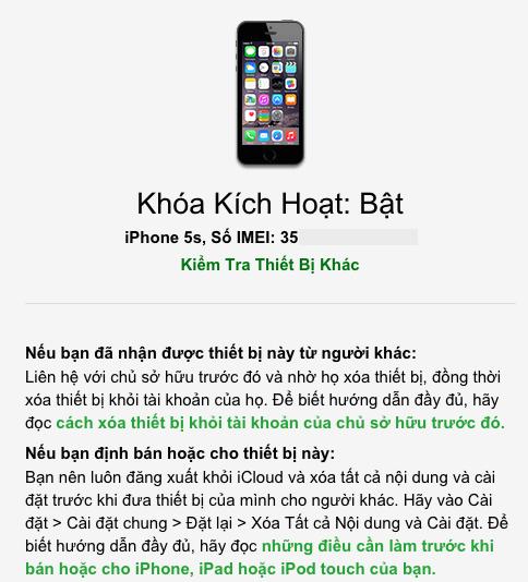 Cách kiểm tra iPhone hay ipad có bị khóa iCloud hay không