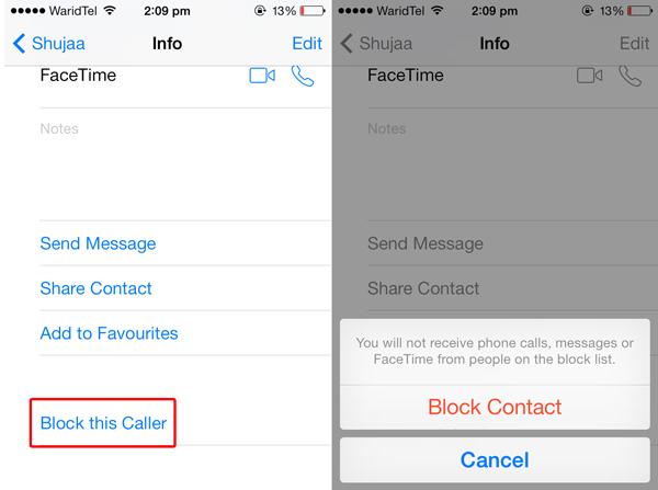 Chặn cuộc gọi trên IOS với iMessages